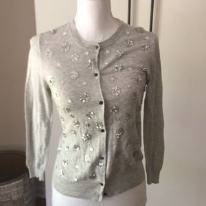 J crew collection Sz s embellished cardigan